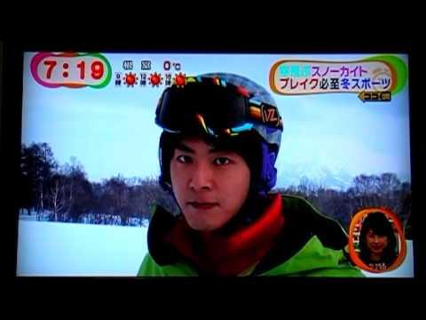 北海道 snowkite スノーカイト めざましテレビ ニセコ・札幌