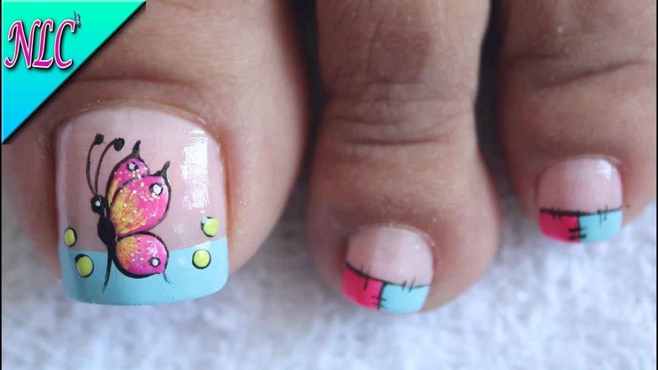 Mariposas en uñas para principiantes