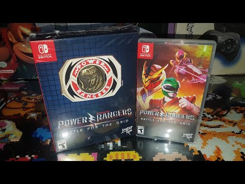 Power Rangers Battle For The Grid Mega Edition Nintendo Switch Unboxing +Review -Limited Run Games-