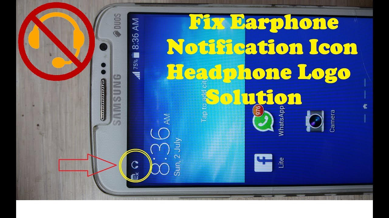 Fix Samsung Headphone Logo Solution Remove Earphone Logo Remove