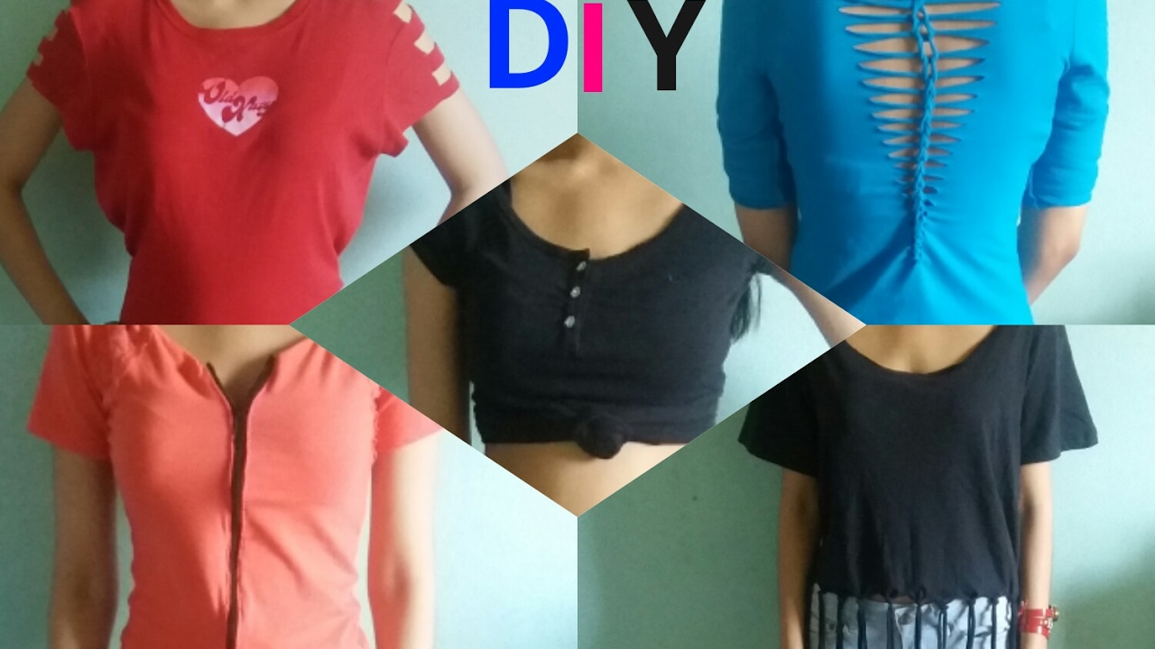 Diy t shirt customis 233 more - 5 Diys To Make New Clothes From Old T Shirts