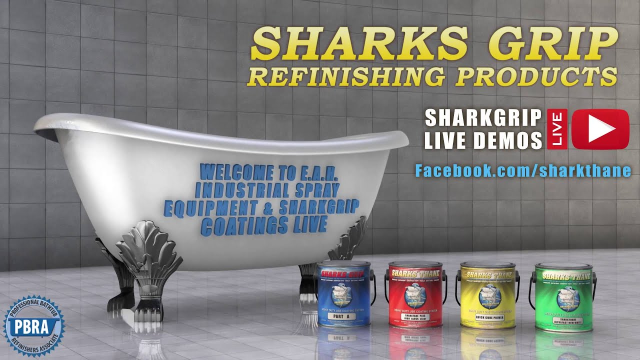 SharkGrip Bathtub Refinishing Coatings Live Demo Facebook Channel ...