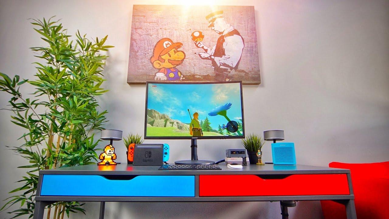 Diy Nintendo Switch Gaming Desk Setup Youtube