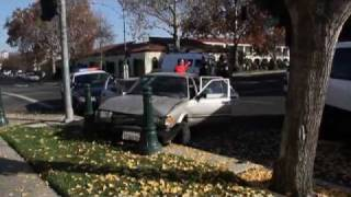 Teens Crash Stolen Car During Police Chase In Downtown Modesto, California - News