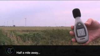 How noisy is a wind farm?