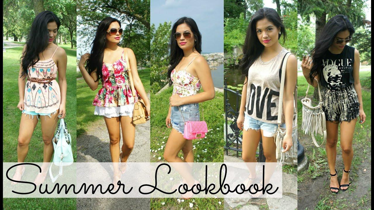 Summer Vacation Outfits/Lookbook - Belinda Selene - YouTube