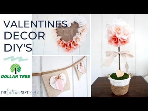 3 DOLLAR TREE VALENTINE DIYS 2020 - Valentine's Day Decor so easy to make! Farmhouse Valentines DIY