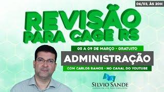 REVISÃO CAGE: Administração com Carlos Ramos