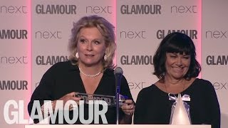 Video Jennifer Saunders and Dawn French Acceptance Speech   Women of The Year Awards 2016   Glamour UK download MP3, 3GP, MP4, WEBM, AVI, FLV Juli 2018