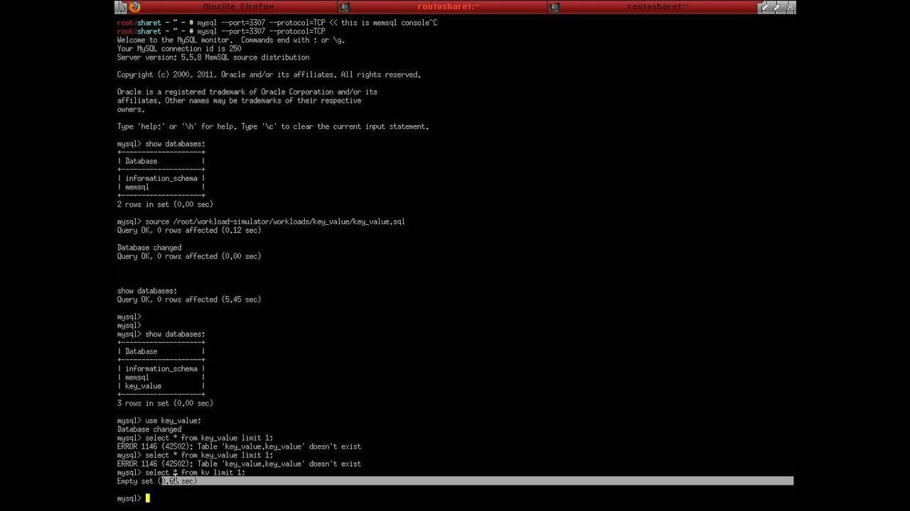 MySQL is bazillion times faster than MemSQL – domas mituzas