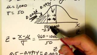 A Fifth Normal Distribution Problem Worked Out.wmv