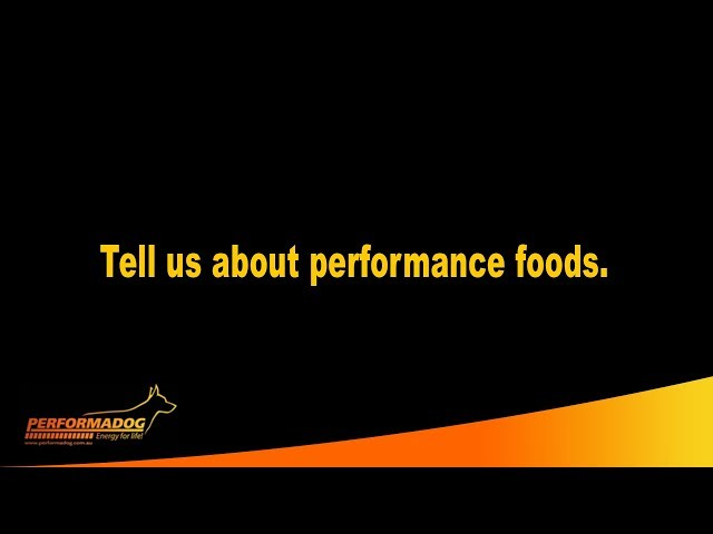 Tell us about performance foods?