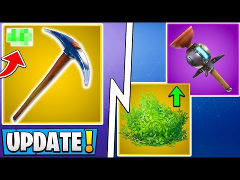 *ALL* Fortnite 7.40 Changes!   Bush Buff, Harvest Update, Free Battle Pass!