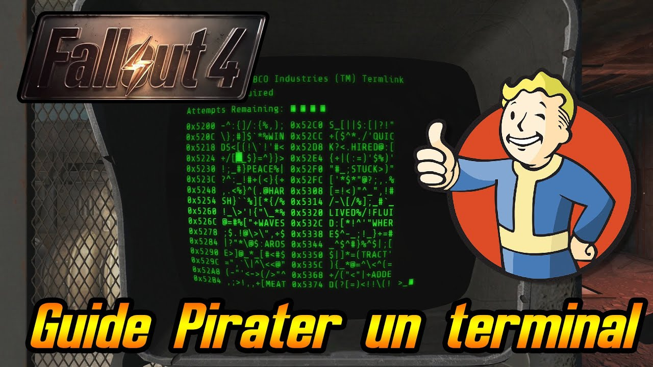 guide pirater un terminal fallout 4 youtube. Black Bedroom Furniture Sets. Home Design Ideas