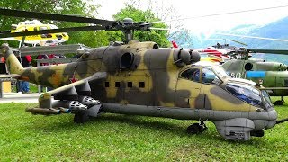 STUNNING MIL MI-24 Миль Ми-24 ATTACK RC SCALE HELICOPTER LANDQUART 2019