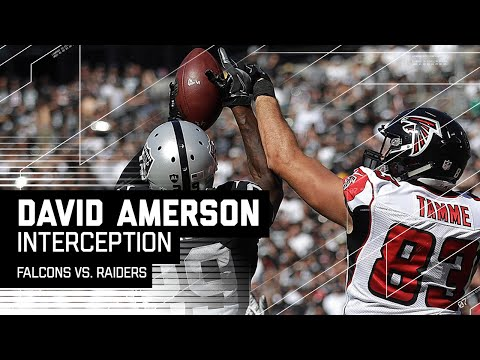 David Amerson Picks Off Matt Ryan in the End Zone | Falcons vs. Raiders | NFL