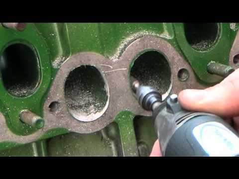 Volvo Diesel Engine head porting  : grinder time !