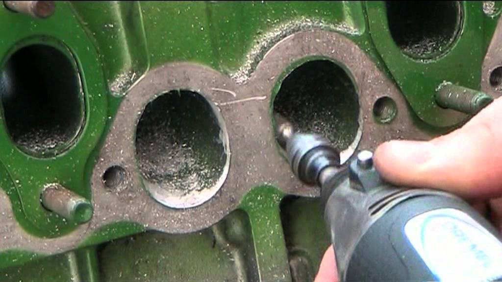 Volvo Diesel Engine Head Porting   Grinder Time
