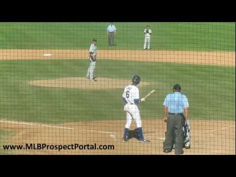 Cubs SS Junior Lake vs. Mariners LHP Brian Moran - Arizona Fall League 2011