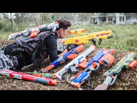 LTT Game Nerf War : Winter Warriors SEAL X Nerf Guns Fight Criminal Group Rocket Assassination 2