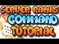 Minecraft Command Block Custom Server Ranks Tutorial (MCPE/XBOX ONE/BEDROCK EDITION)