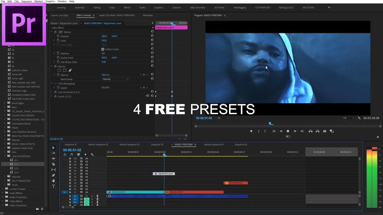 4 FREE Lens Distortion Transition Effect PRESETS For Adobe Premiere Pro CC