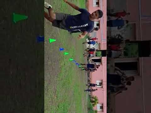 100 meter practice in GOAL Academy