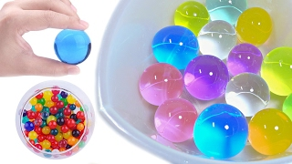 Cutting & Crushing Big Orbeez Ball
