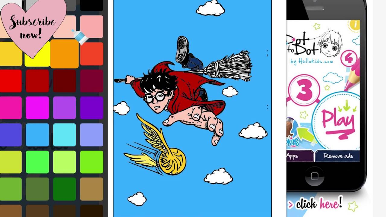 Coloring Book Harry Potter Games Golden Snitch Quidditch