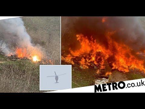 Terrifying fireball engulfed Kobe Bryant's helicopter in crash that killed nine