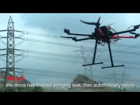 MMC Pilots Team Teach You How to Operate Spider UAV to Stringing Power Line Cable