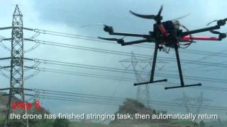 MMC Teach You How to Operate Multi Rotor UAV Stringing Power Line