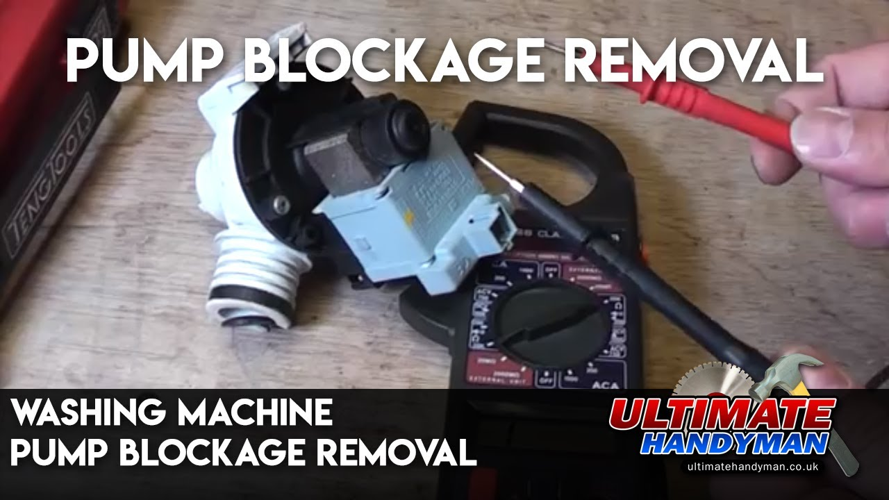 Washing Machine Pump Blockage Removal