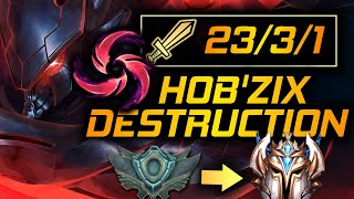 Hail of Blades Kha'Zix Destruction | Unranked to Challenger Kha'Zix Only Season 10