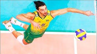 【バレーボール】ブラジル伝説の男、ジバ。勝利に飢えた闘志あふれるスパイク!【スポーツ】Volleyball legend player Giba