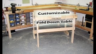 Steve's Fold Down Table For My X Carve Cnc
