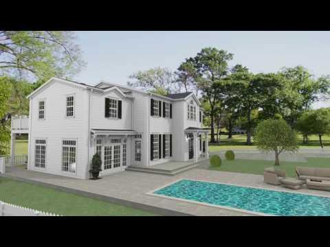 New England hus på Lidingö - virtuell rundvandring
