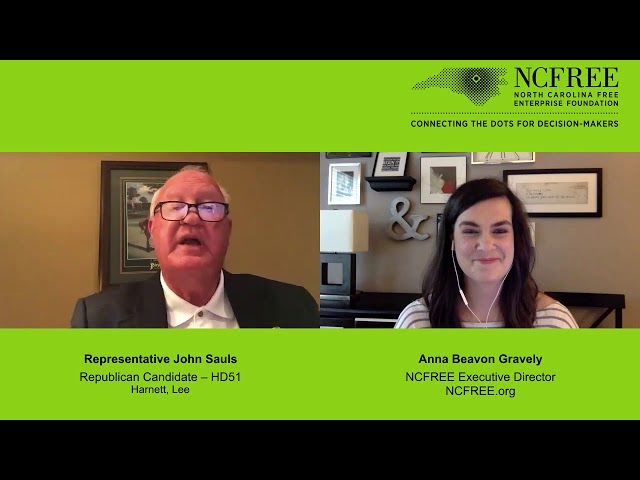 NCFREE Candidate Interview - Representative John Sauls, HD-51