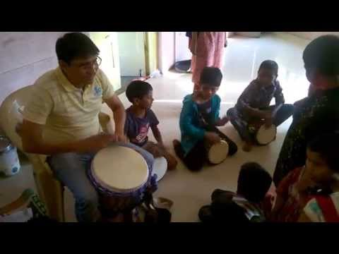 Drum Circle (Paresh Apte) Jamming @ Street Kids School