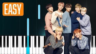 BTS (방탄소년단) '봄날 Spring Day 100% EASY PIANO TUTORIAL
