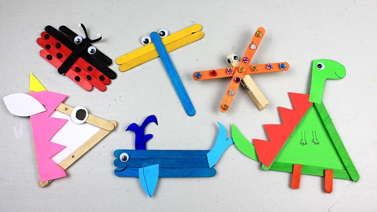 6 Easy Popsicle Stick Crafts For Kids Simple Cute Diy Animals