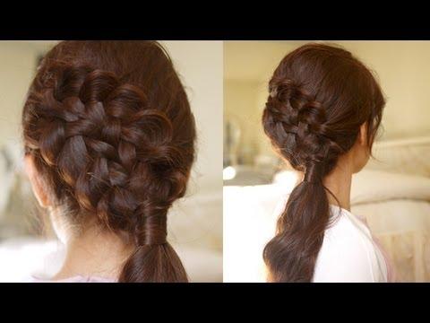 hair tutorial double braided sidedo for medium to long hair youtube