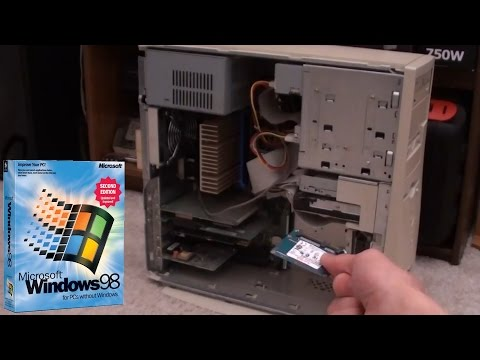 Installing Windows 98 on an SSD