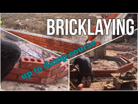 Bricklaying Part 2 bay window up to damp course in Knutsford Cheshire