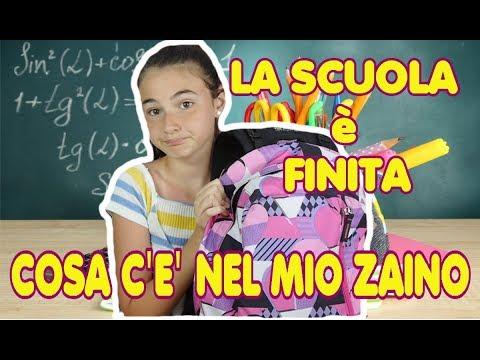 Cosa c'è nel mio zaino ~ La scuola è finita 2018   what's in my backpack by Marghe Giulia Kawaii