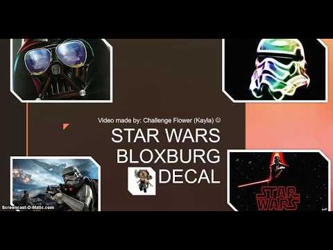 Star Wars Bloxburg Decal Roblox Youtube