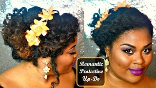 Protective Style For Natural Hair | Romantic Updo