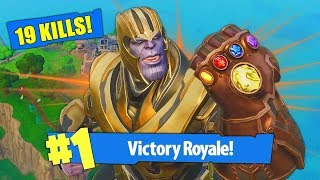 THANOS BREAKS FORTNITE!! (MOST OVERPOWERED THING EVER!)