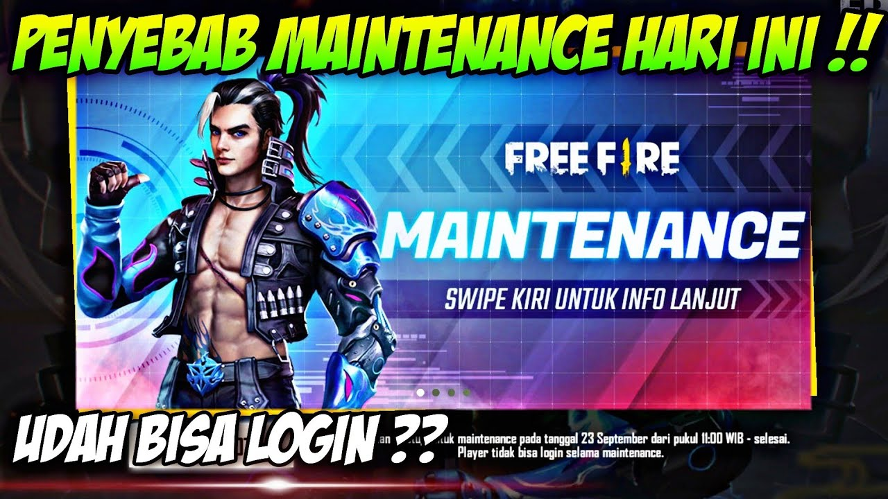 PENYEBAB UPDATE & MAINTENANCE FREE FIRE HARI INI SEPTEMBER 2020