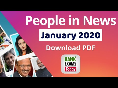 People In News: January 2020 ( Download PDF)